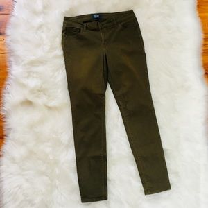 """Old Navy """"Royal Pine"""" Green Sateen Jeans"""